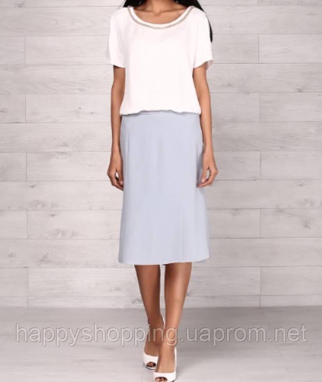 Голубая юбка Armani Collezioni
