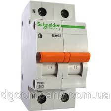Автомат. выключатель Schneider ВА63 1п+H  16А(серия Домовой)
