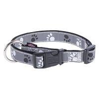 Trixie TX-12224  ошейник для собак Silver Reflect Collar 40-65 cm/25 mm