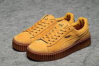 Женские кроссовки Puma Rihanna (пума рианна, пума риханна) бежевые