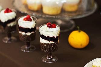 Трайфлы тирамису, карамельные,шоколадные. Десерты в стаканчиках