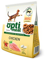 Optimeal (Оптимил) сухой корм для взрослых кошек С курицей 11 кг