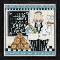 """Набор для вышивания крестом """"Cheap Wine (Дешевые вина)"""""""
