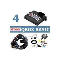Полный комплект ГБО 4-го поколения,STAG-4 Q-BOX,редуктор TOMASETTO 180 лс,форсунки  ALEX Barracuda,баллон.