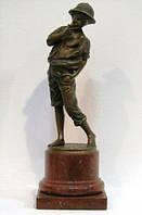 Скульптура Курящий мальчик Том Сойер  1894 г. бронза