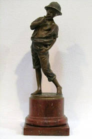 Скульптура Том Сойер, скульптор Т.Wegener 1894 г. бронза