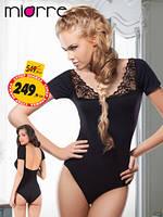 Женское боди с коротким рукавом . Цвет черный