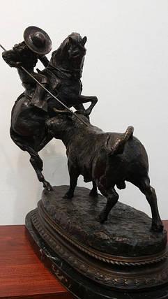 Мексиканская коррида (бронза) сер.ХХ-века, фото 2