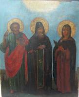 Икона Св. князь Даниил с предстоящими 19 век