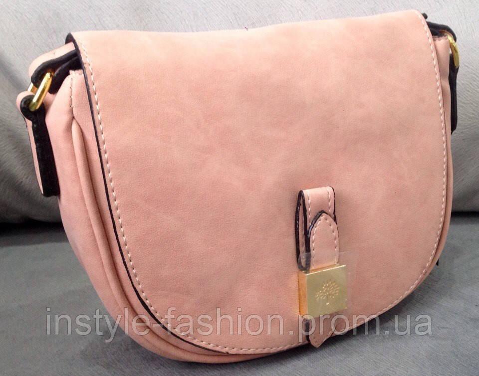 Сумка клатч через плечо Mulberry цвет розовый