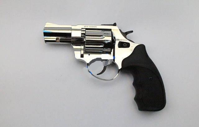 """Под патрон Флобера. Револьвер Trooper 2.5"""" сталь хром пласт/чёрн. Флобер. Револьверы, пневматическое оружие, фото 2"""