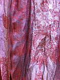 Шарф палантин цвет коричневый с рисунком, фото 3