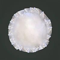 Подушка атласная круг, рюш белый