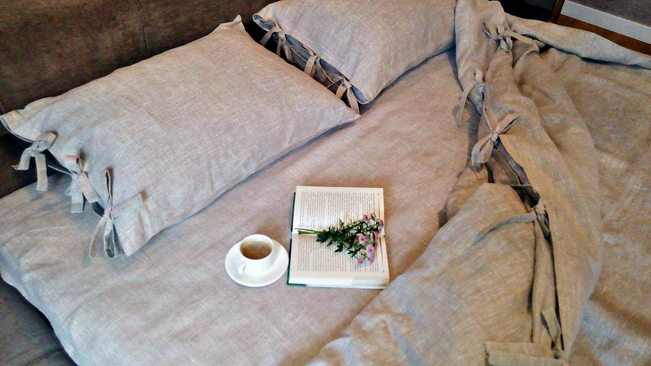 "1,5 комплект из 100% льна ""Утро в Провансе, Natural"", фото 1"