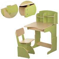 Парта  F 2071-5  регул.висота,зі стульчиком,70*47 зелена