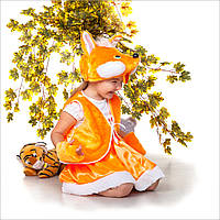 Детский карнавальный костюм Лисичка для девочки 3-7 лет. Маскарадный костюм на праздник Осени
