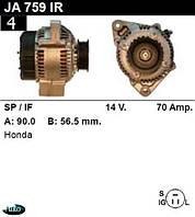 Генератор Honda Prelude 2.0 70 Амр.JA759IR
