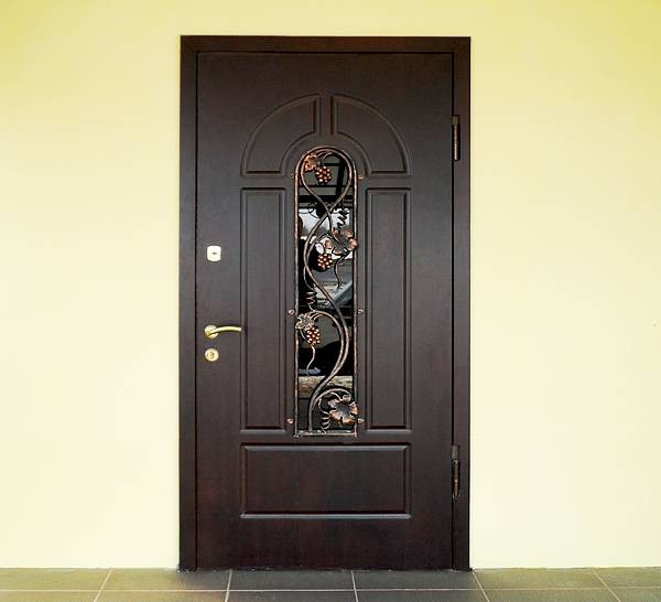 Двері вхідні броньовані з ковкою безкоштовна доставка 86х205