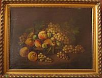 "Картина ""Натюрморт с персиками"" N.Gelbi. 19 век"