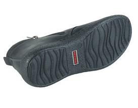 Подростковые демисезонные ботинки  МИДА 32002-3 черные из натуральной матовой кожи, фото 3