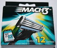 Gillette Mach 3 упаковка 12 штук оригинал, фото 1