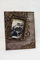 Мужская фоторамка стимпанк ручной работы Ручная работа