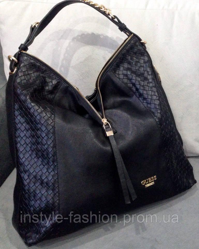 Сумка Guess с одной ручкой на плечо черная - Сумки брендовые 3440d97315643