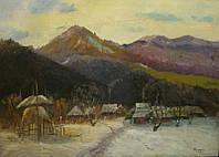 """Картина """"Ранняя зима"""" Сидорук В.Ф. 1970-е годы"""