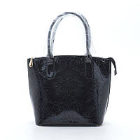 Модная оригинальная лаковая сумка , черная