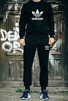 Мужской черный спортивный костюм Adidas OLD