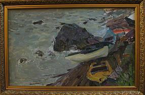 Картина Морской прибой Столяренко П.К. 1980-годы