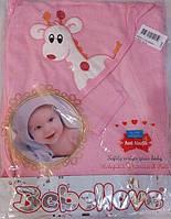 Полотенце - уголок для малышей с жирафом