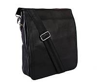 Мужская сумка из экокожи с ручкой и через плечо черная