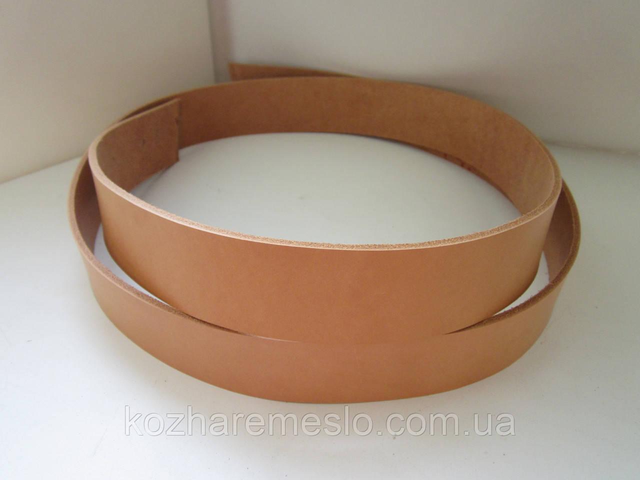 Ременная полоса из кожи растительного дубления 25 мм, толщина 3,6 - 4,0 мм