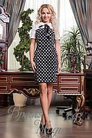 Чёрное платье в горошек. 7 цветов