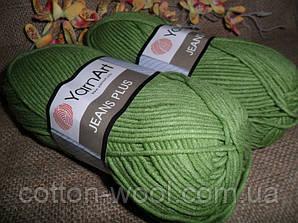 Yarnart Jeans Plus (Ярнарт Джинс Плюс) 69 зеленый