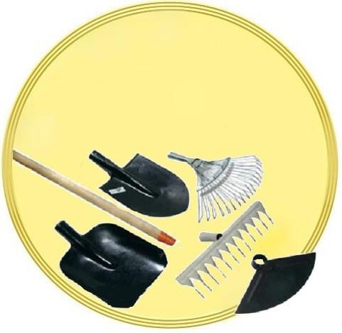 Грабли, лопаты, вилы, косы, сапки, держаки