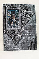Оригинальная мужская фоторамка в стиле steampunk Подарок мужчине (парню) Ручная работа
