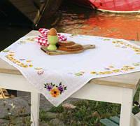 """Набор для вышивания крестом VERVACO """"Скатерть Chicks & Eggs (Цыплята и пасхальные яйца)"""""""