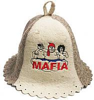 Шапка колокольчик для сауны Мафия