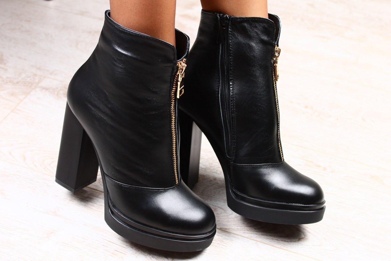 осенние ботинки на каблуке фото