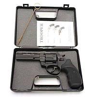 """Под Флобера револьвер Trooper 4.5"""", револьвер сталь мат/чёрн, рукоять пласт/чёрн"""
