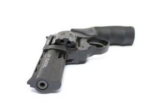 """Под Флобера револьвер Trooper 4.5"""", револьвер сталь мат/чёрн, рукоять пласт/чёрн, фото 3"""