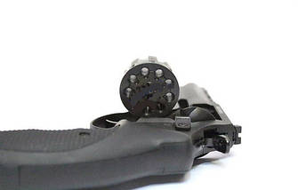 """Под Флобера револьвер Trooper 4.5"""", револьвер сталь мат/чёрн, рукоять пласт/чёрн, фото 2"""