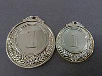 Медаль HB053 50 mm gold с лентой