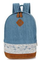 Рюкзак джинсовый кружевной для девочки.