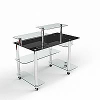 """Компьютерный стол из стекла """"Альфа"""" БЦ-стол"""