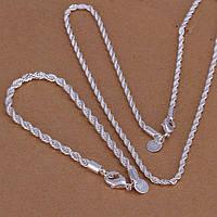 Ювелирный комплект Цепочка и браслет серебро 925