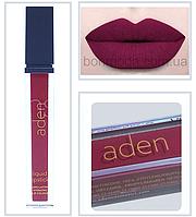 """Aden помада жидкая суперстойкая Aden Cosmetics Burgundy """"Бургунди-Марсала"""" № 11, фото 1"""