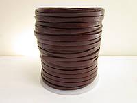 Кожаная тесьма 3мм коричневая (шоколад)